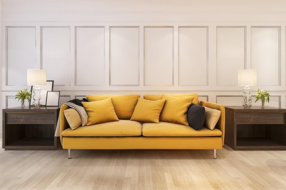 Sofa w intensywnym kolorze